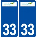 33 Sainte Foy la Grande logo city sticker, plate sticker