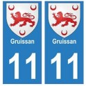 11 Gruissan city sticker plate