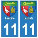 11 Leucate city sticker plate