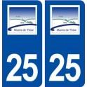 25 Thise logo autocollant plaque stickers