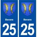 25 Bavans coat of arms sticker plate stickers