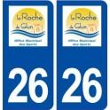 26 La Roche de Glun logo sticker plate stickers city