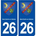 26 Saint Sorlinen Valloire coat of arms sticker plate stickers city