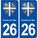 26 Aouste on Sye coat of arms sticker plate stickers city