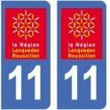 11 Aude autocollant plaque