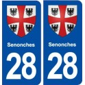 28 Senonches blason autocollant plaque stickers ville
