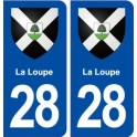 28 La Loupe blason autocollant plaque stickers ville