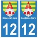 12 Capdenac-Gare ville autocollant plaque