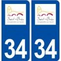 34 Saint Bres logo city sticker, plate sticker