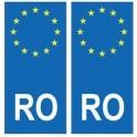 Romania România europe sticker plate sticker