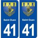 41 Saint Ouen coat of arms sticker plate registration stickers