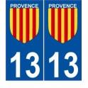Provence sticker numéro choix autocollant plaque département