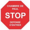 Stop Entrer Sticker Autocollant prénom au choix Prénom Chambre Enfant logo1