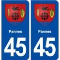 45 Pannes blason ville autocollant plaque stickers