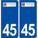 45 Chevilly logo ville autocollant plaque stickers
