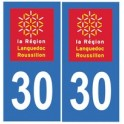 30 Gard autocollant plaque sticker