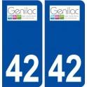 42 Genilac logo city sticker, plate sticker