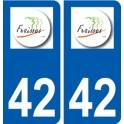 42 Fraisses logo ville autocollant plaque stickers