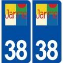 38 Jarrie logo ville autocollant plaque stickers