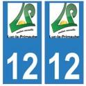 12 Luc-la-Primaube ville autocollant plaque