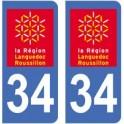 34 Hérault aufkleber typenschild aufkleber-abteilung