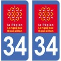 34 Hérault autocollant plaque sticker département
