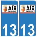 13 Aix-en-Provence ville autocollant plaque