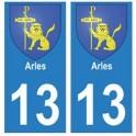 13 Arles ville autocollant plaque