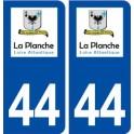 44 La Planche logo ville autocollant plaque stickers
