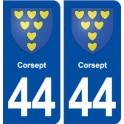 44 Corsept coat of arms, city sticker, plate sticker