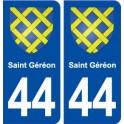 44 Saint Géréon blason ville autocollant plaque stickers