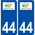 44 Arthon en Retz logo ville autocollant plaque stickers