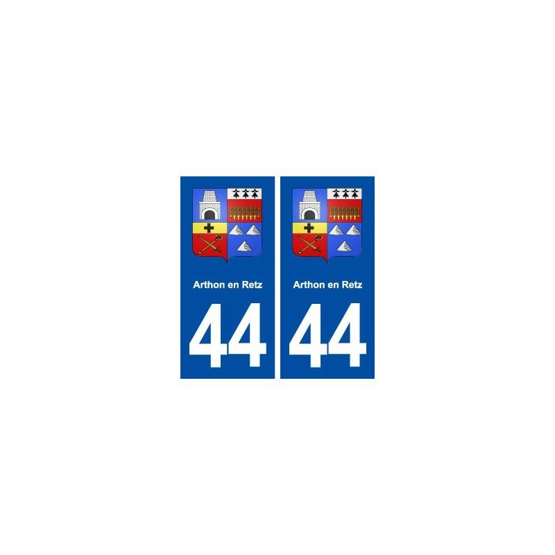 44 arthon en retz blason ville autocollant plaque immatriculation d partement. Black Bedroom Furniture Sets. Home Design Ideas