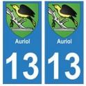 13 Auriol ville autocollant plaque