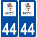 44 Derval logo city sticker, plate sticker
