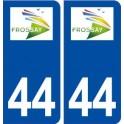 44 Frossay logo ville autocollant plaque stickers