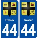 44 Frossay coat of arms, city sticker, plate sticker