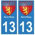 13 Berre l'Étang ville autocollant plaque