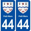 44 Small March, coat of arms, city sticker, plate sticker