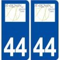 44 Saint Aignan Grandlieu logo city sticker, plate sticker