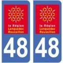 48 Lozère sticker plate