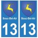 13 Bouc-Bel-Air ville autocollant plaque