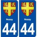 44 Nozay blason ville autocollant plaque stickers
