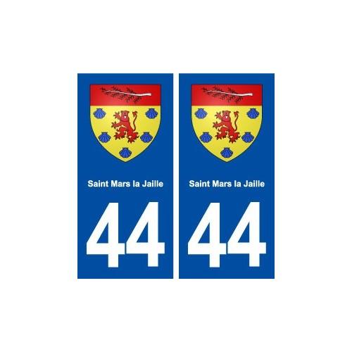 44 Saint Mars la Jaille blason ville autocollant plaque stickers