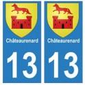 13 Châteaurenard ville autocollant plaque