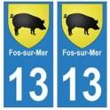13 Fos-sur-Mer ville autocollant plaque