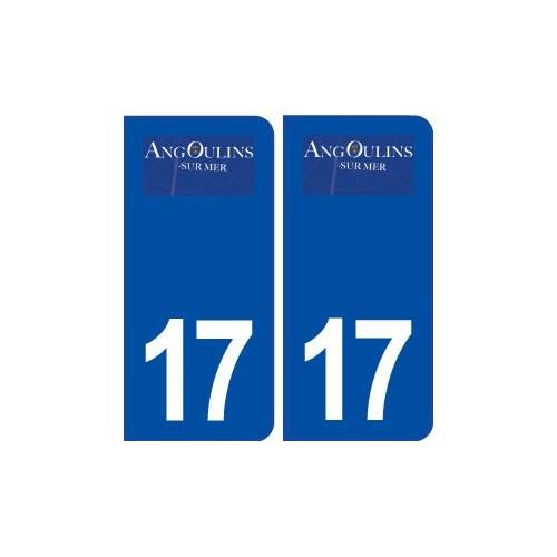 17 Angoulins logo ville autocollant plaque sticker
