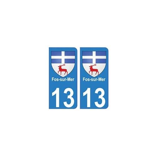 13 Istres blason ville autocollant plaque arrondis Angles