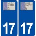 17 Saint Martin de Ré logo ville autocollant plaque sticker