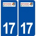 17 Semussac logo city sticker, plate sticker